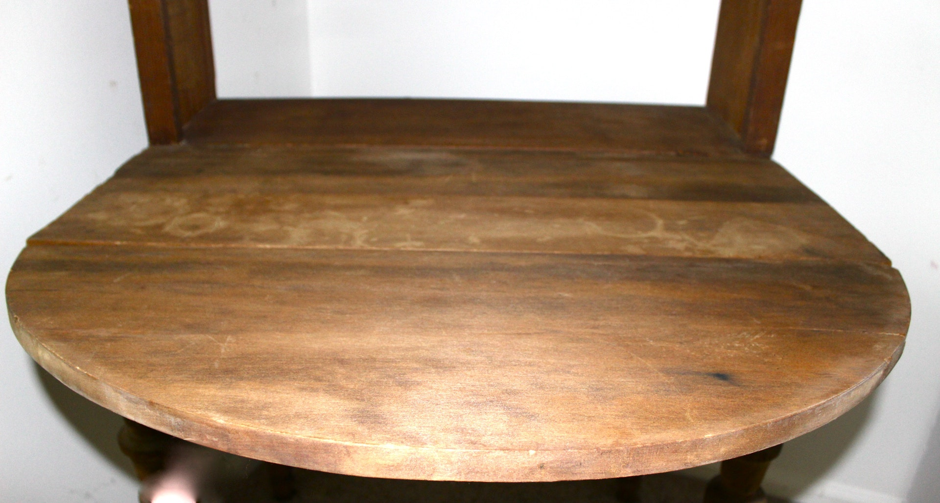 Primitive Writing Desk And Bookcase With Drop Leaf Ebth