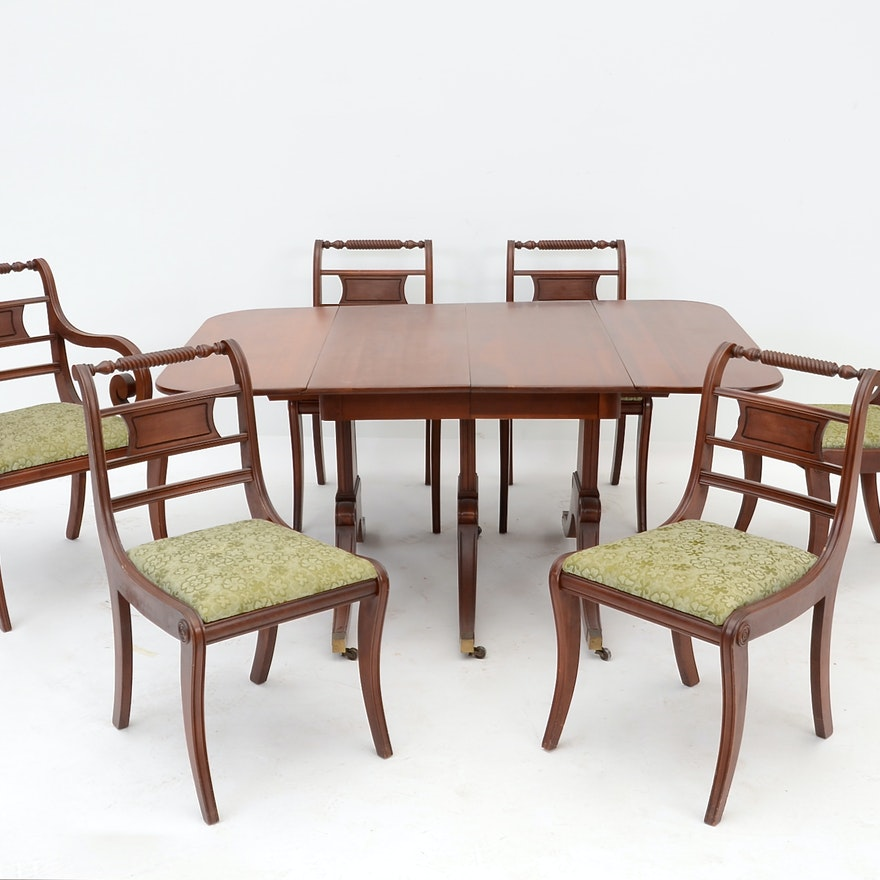 Cherry Dining Room Chairs: Consider H. Willett Co. Cherry Dining Table And Chairs