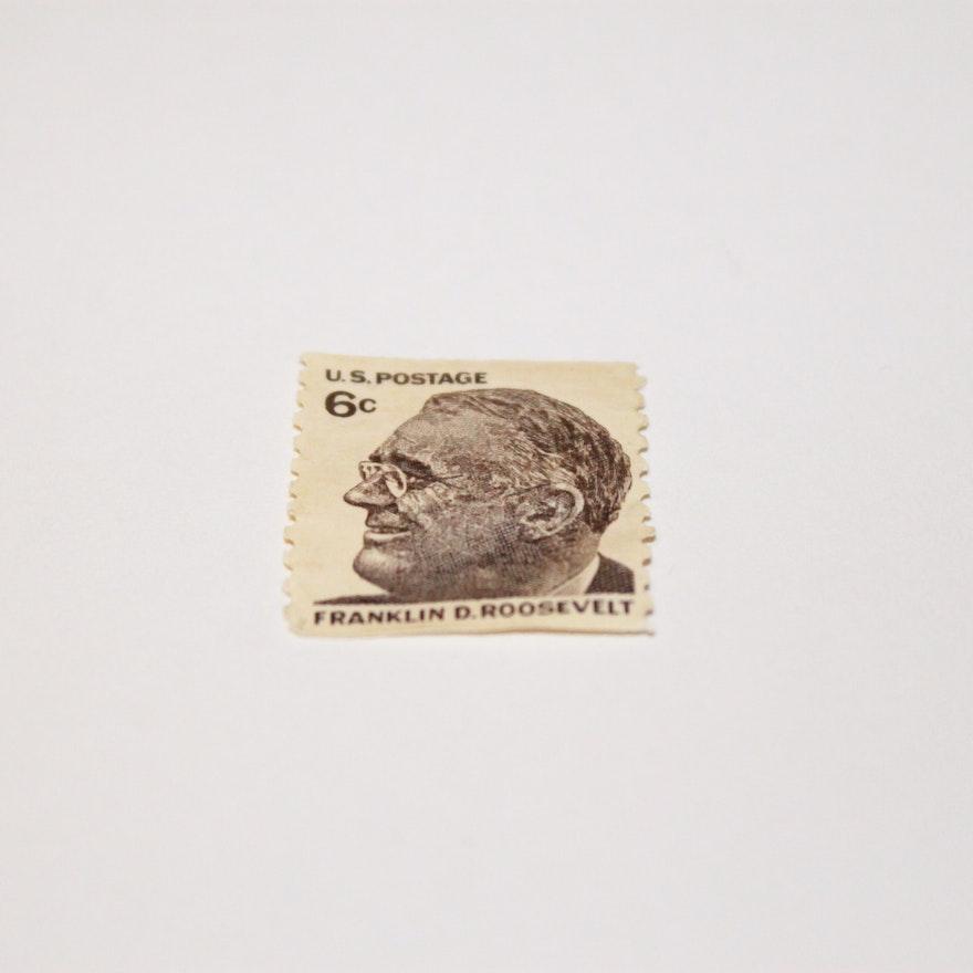 6 Cent Stamp Of Franklin D Roosevelt