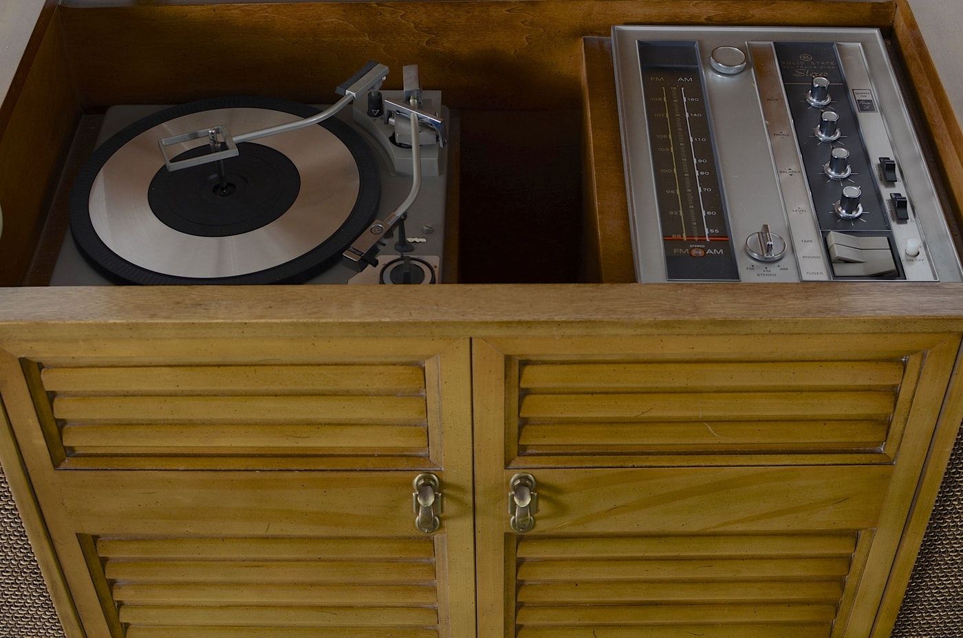 Vintage Ge Stereo Console Phonograph Ebth