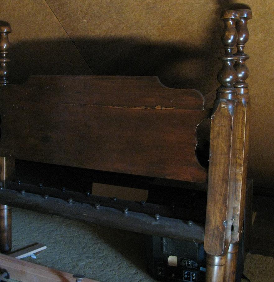Antique rope bed frame ebth for Rope bed frame