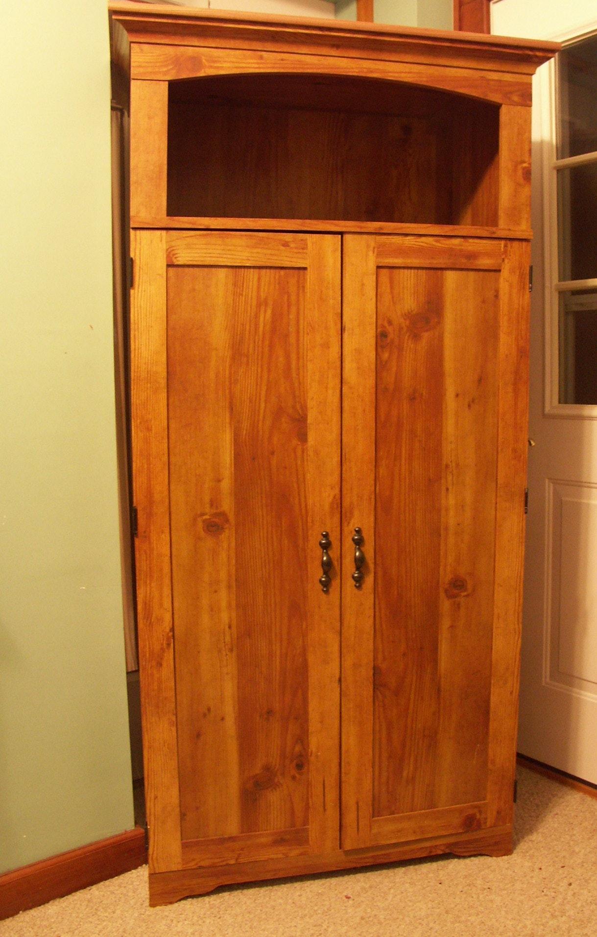 sauder pine finish computer armoire