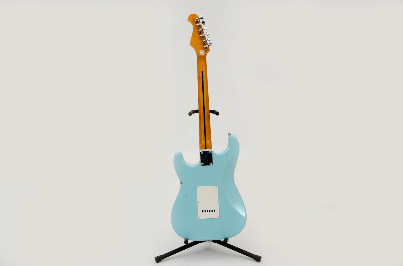 SX Vintage Series Electric Guitar in Robins Egg Blue and