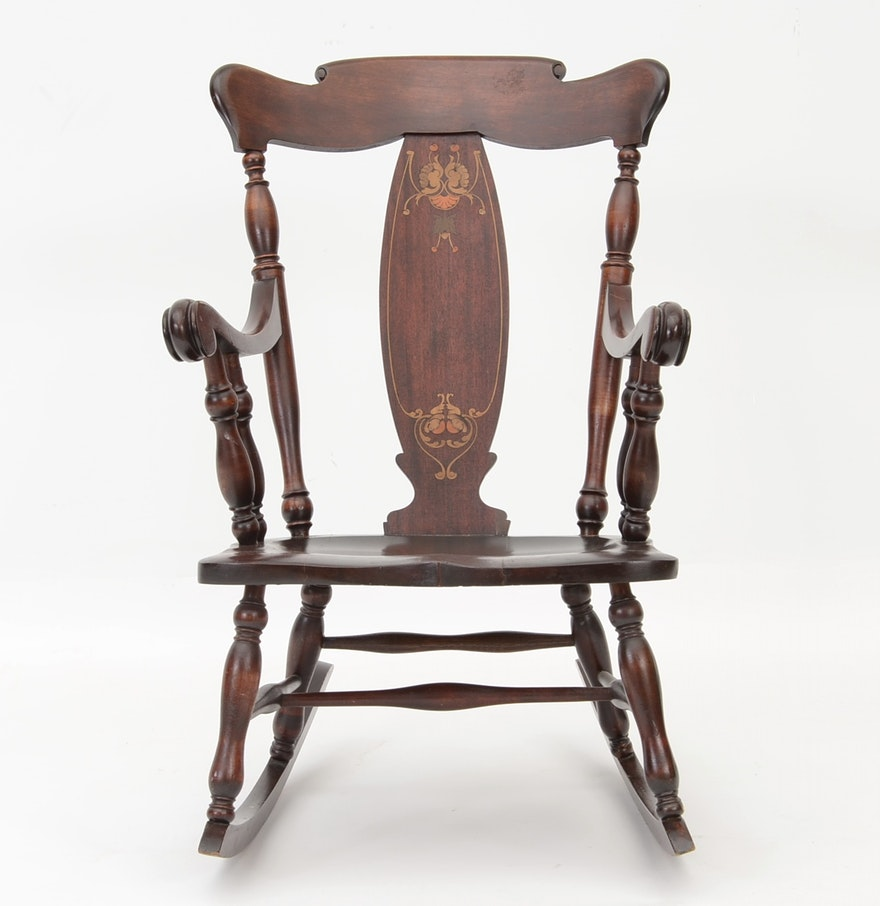 Victorian rocking chair - Victorian Colonial Revival Rocking Chair
