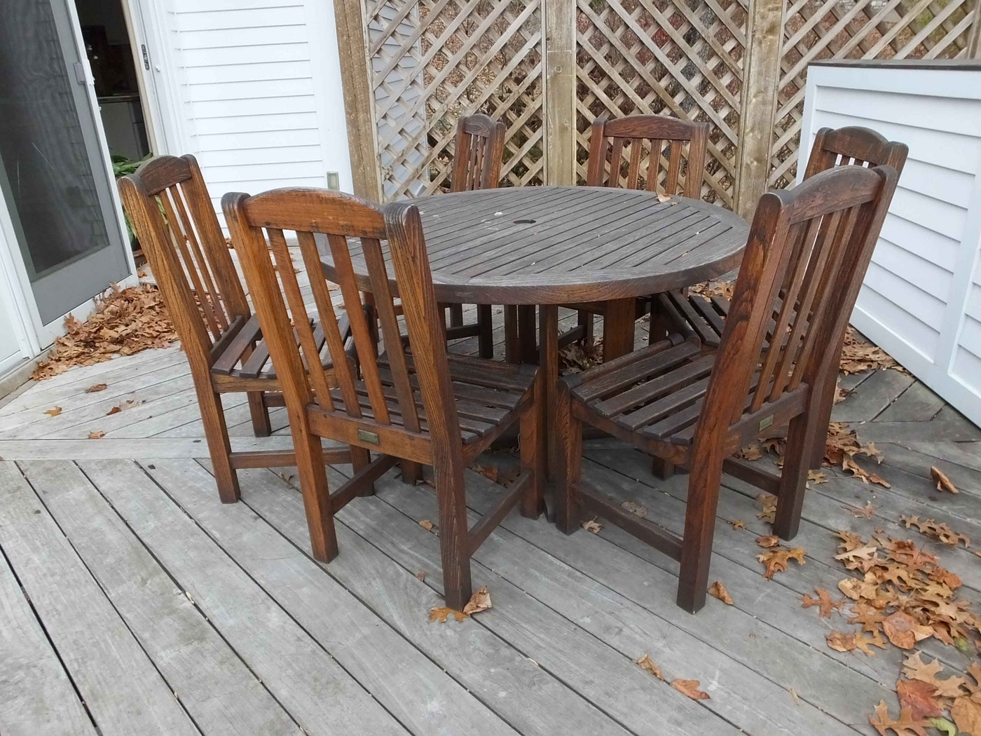 Smith And Hawken Teak Table And Chairs Ebth