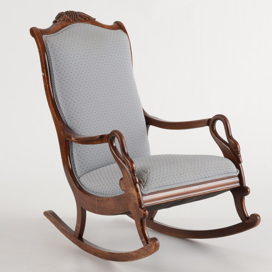 Victorian Style Gooseneck Rocking Chair