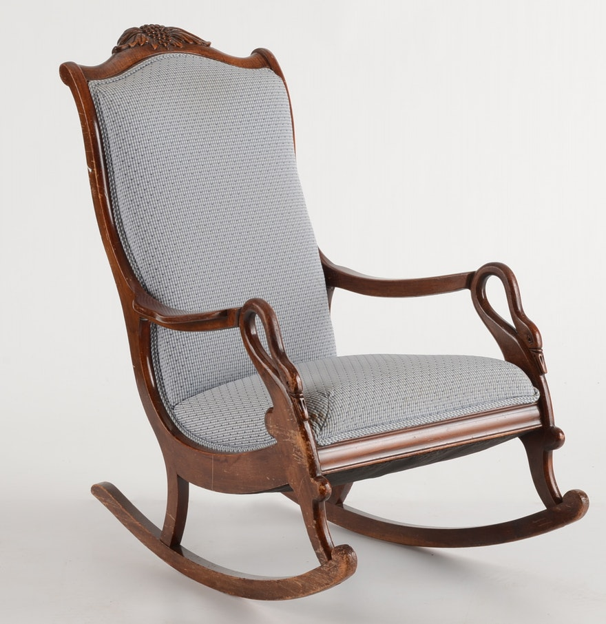 Victorian rocking chair - Victorian Style Gooseneck Rocking Chair