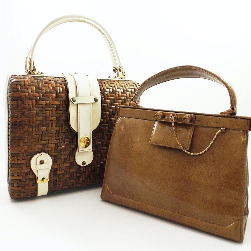 c9c334d2ea00 Vintage Spanish Wicker Handbag