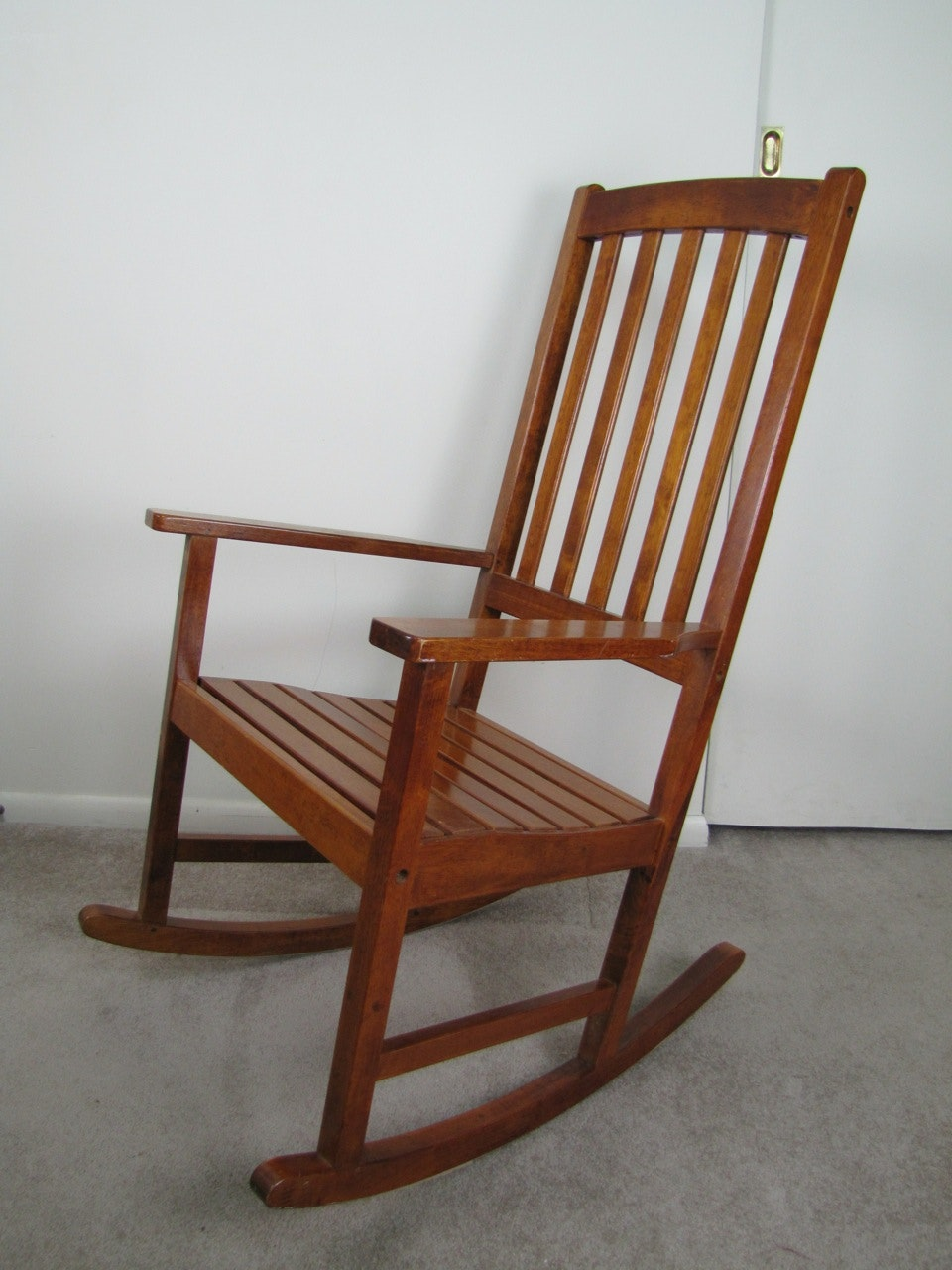 oversized wood rocking chair ebth
