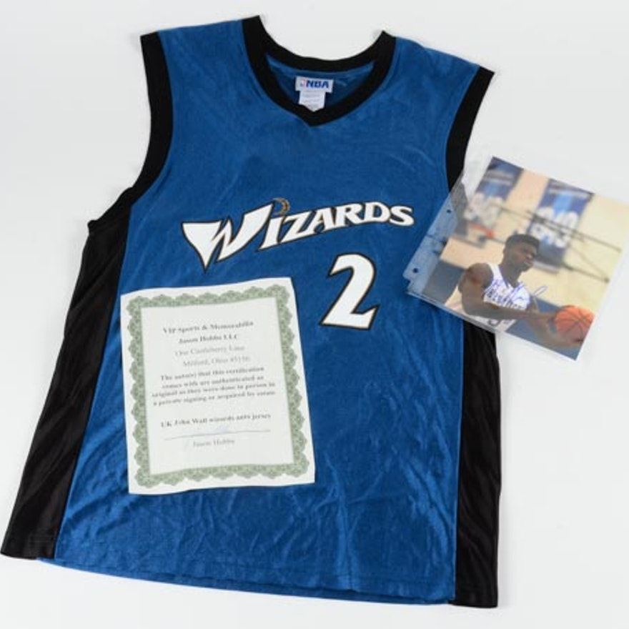lowest price d8dfe 1fbfc John Wall Signed Jersey and Nerlens Noel Signed Photo