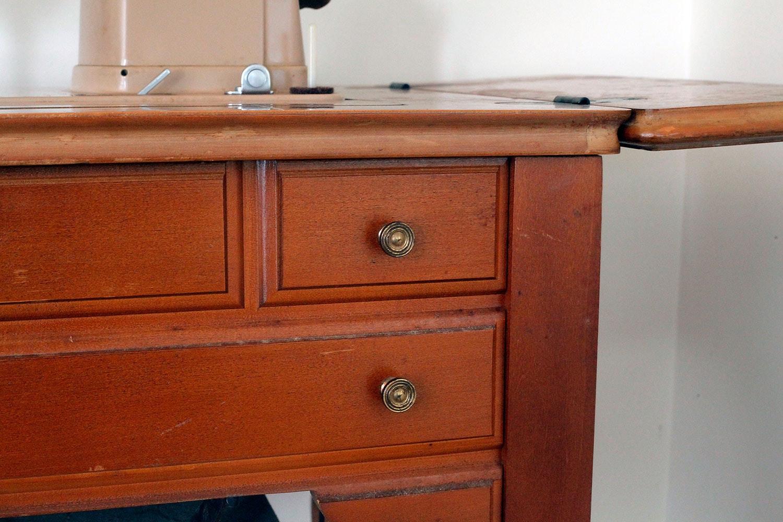 singer sewing machine desk