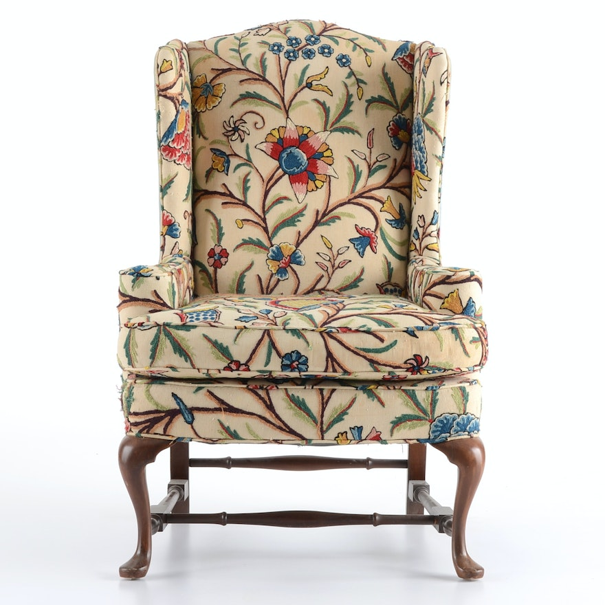 Pennsylvania House Upholstered Wingback Chair Ebth