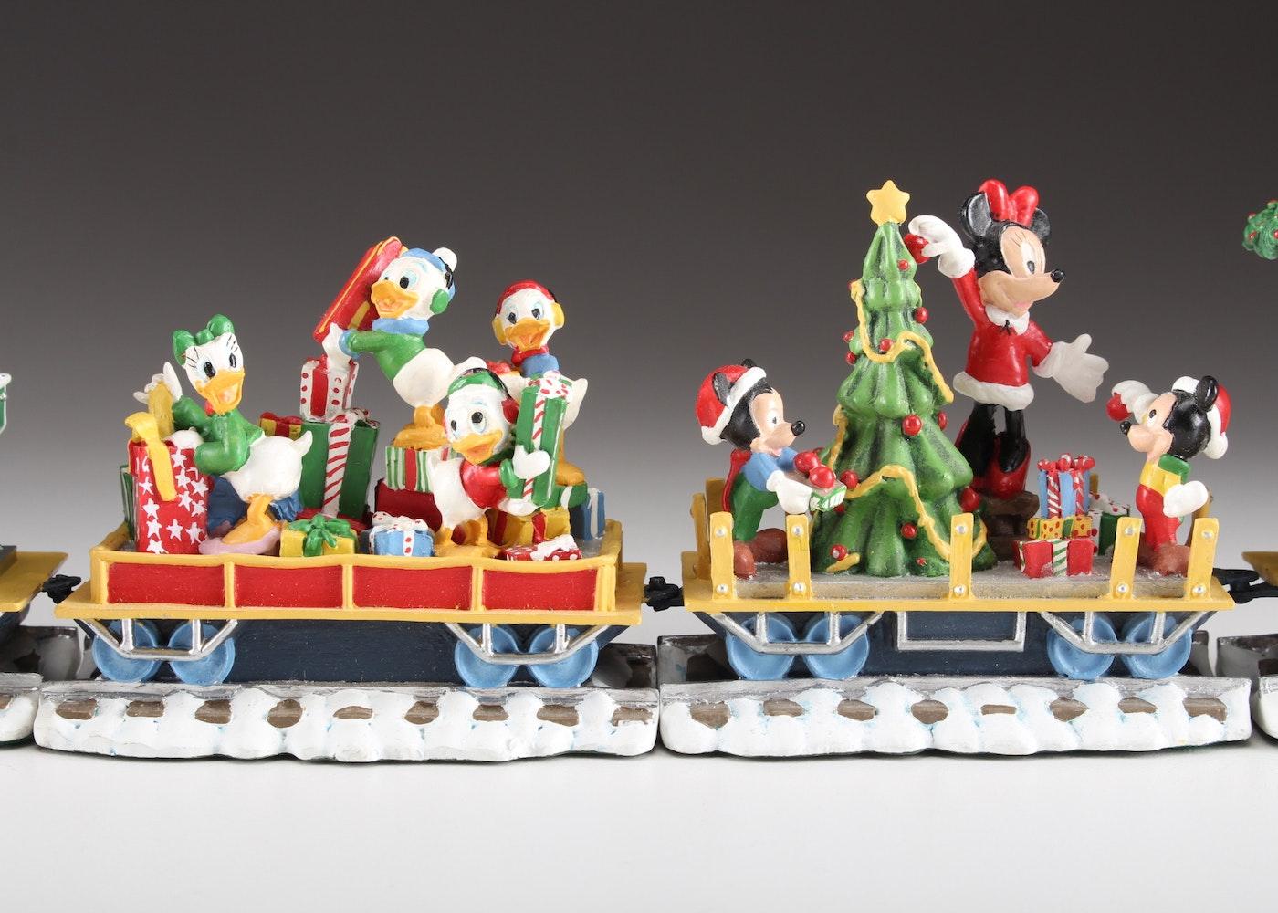 Disney Danbury Mint Mickeys Christmas Train Set Ebth