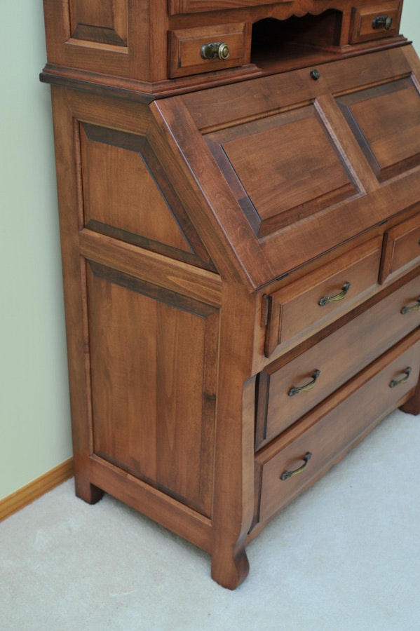 Classic Custom Amish Made Secretary From Miller 39 S Furniture Ebth