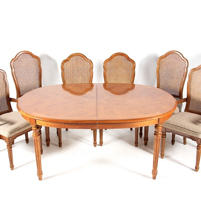 Thomasville Dining Set with Six Chairs - Online Furniture Auctions Vintage Furniture Auction Antique