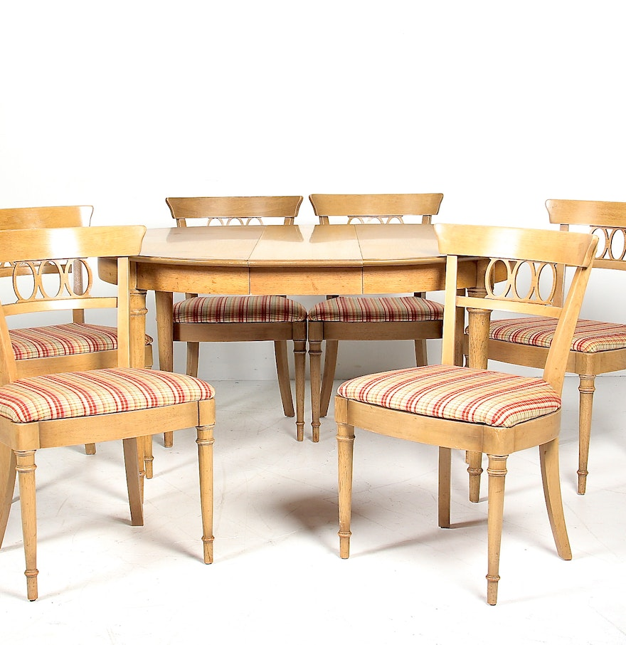 Dining Room Sets Columbus Ohio: Circa 1960s Drexel Fruitwood Dining Table And Chair Set : EBTH