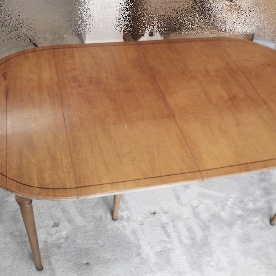 Vintage Fruitwood Dining Table Leaf And Pads