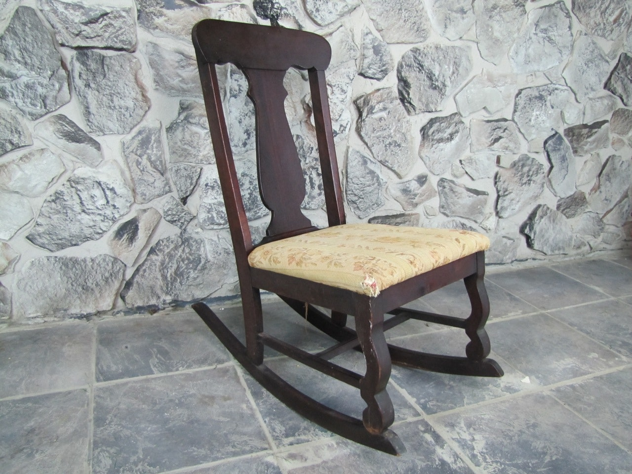 small antique nursing rocking chair