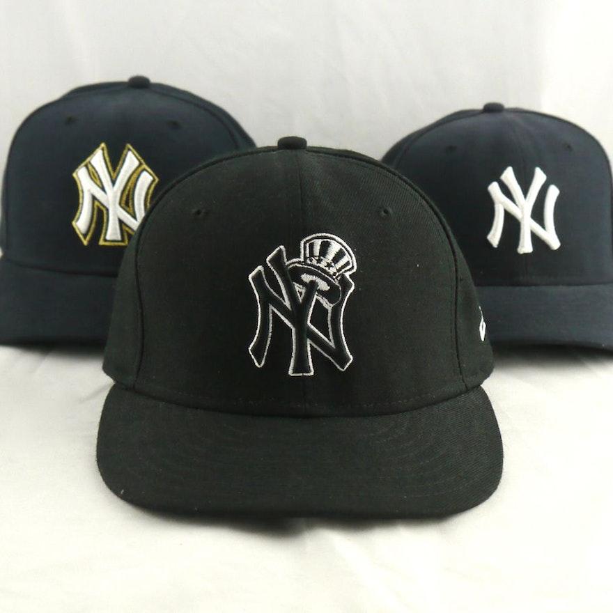 Grouping of NY Yankees Hats Size 7 55.8cm   EBTH 3211cbb0862b