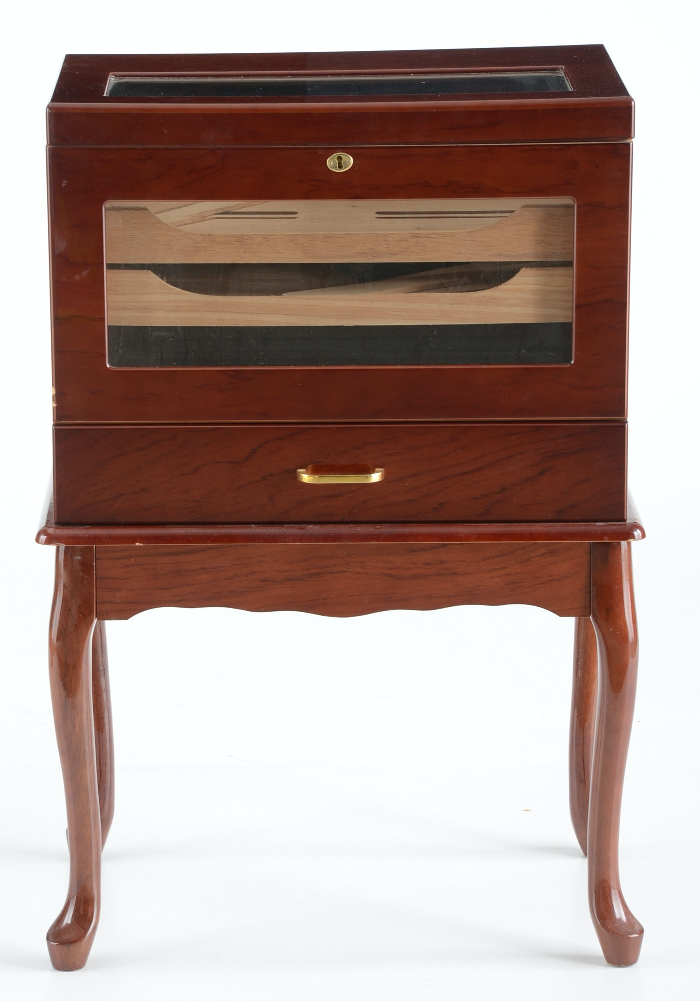 Mahogany humidor cabinet ebth for How to increase cabinet depth