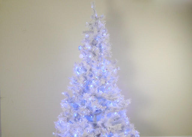 Pre Lit White Christmas Tree With Blue Lights ...