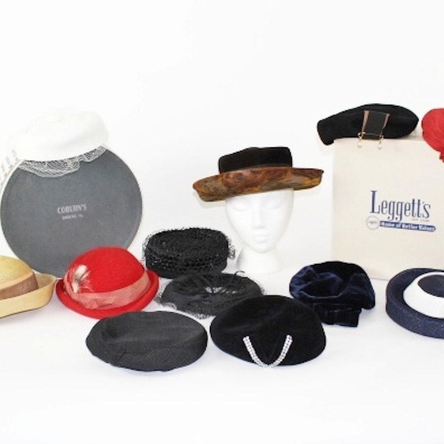 409aea1496dc0 Vintage Ladies Hats 1920s and Newer.   EBTH