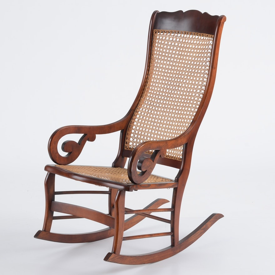 Bench-Made Lincoln Style Rocking Chair Reproduction : EBTH