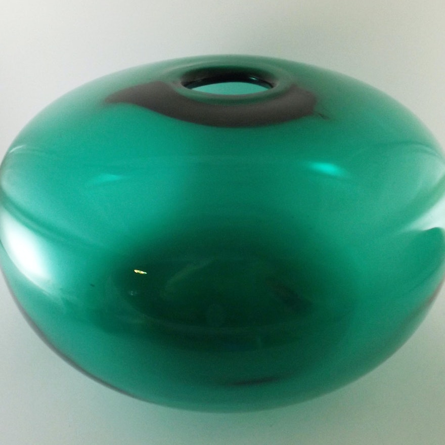 Ikea Stockholm Green Gl Globe Vase : EBTH on ikea green rug, blue and clear blown glass bud vase, ikea glass vases, cobalt blue crystal vase, ikea green desk lamp, ikea green sofa,