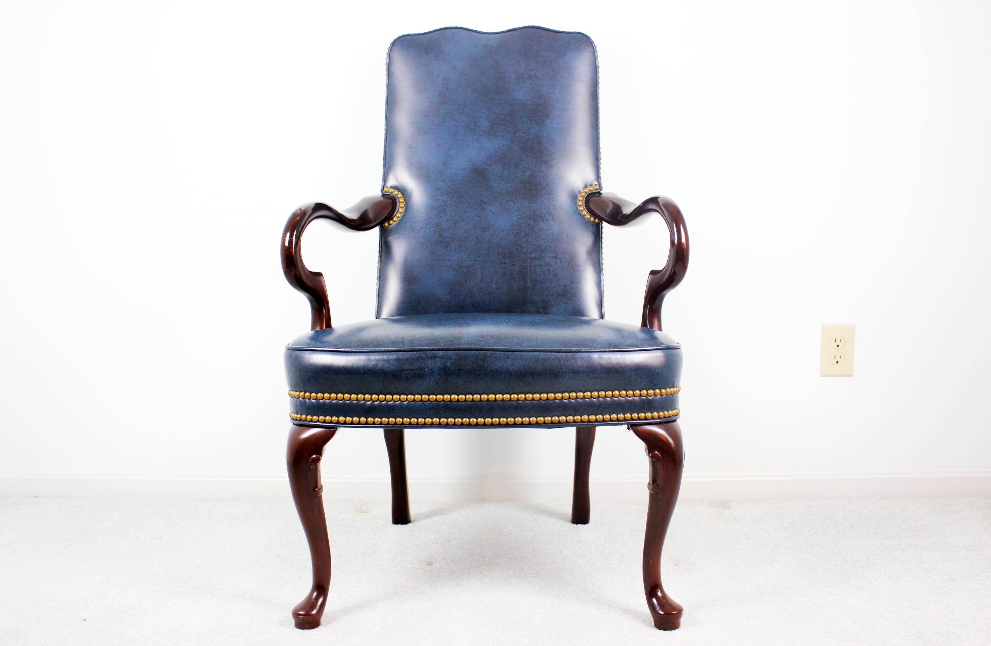 Charmant Hancock And Moore Leather Kensington Gooseneck Chair ...