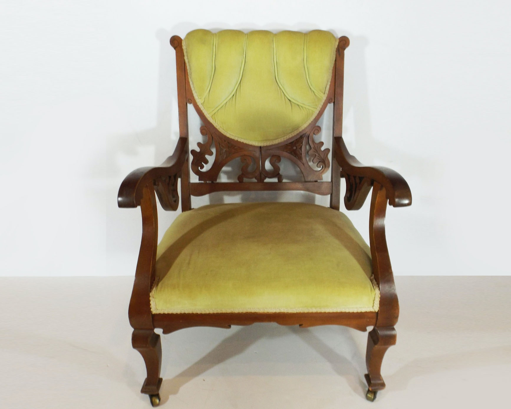 Victorian Parlor Chair In Cherry Wood