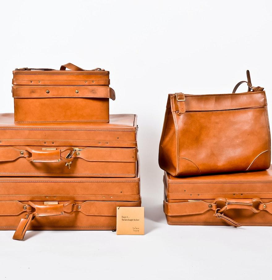Set of Vintage Hartmann Leather Luggage : EBTH