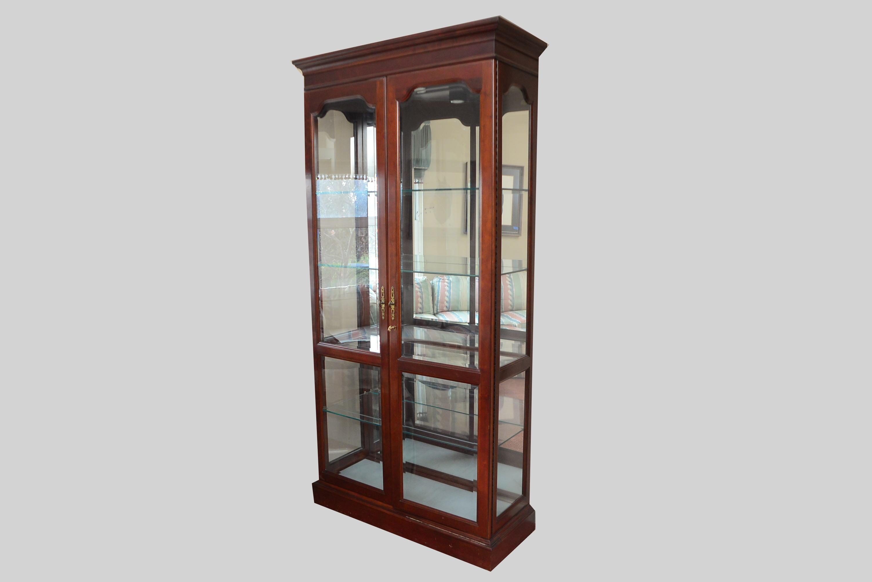 Jasper Mahogany Large Curio Cabinet ...