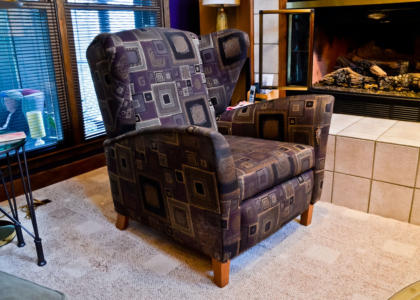 Norwalk furniture wingback recliner ebth for Norfolk furniture