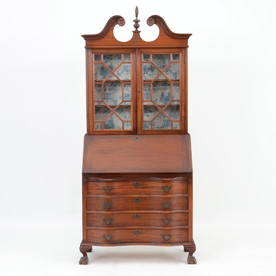 Chippendale Style Secretary - Online Furniture Auctions Vintage Furniture Auction Antique