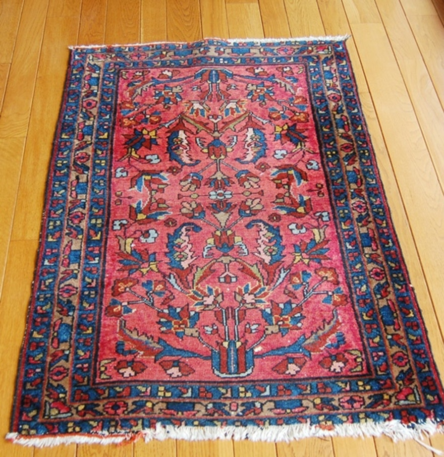 100 Wool Persian Area Rug: Persian 100% Wool Pile Rug : EBTH