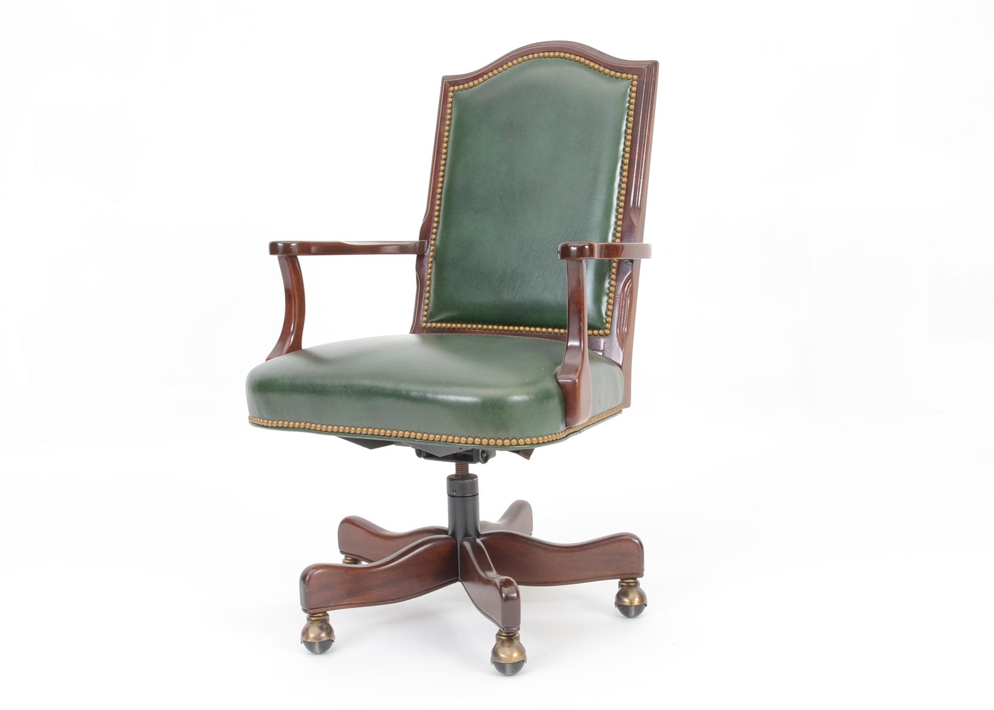 green leather office chair. Hancock \u0026 Moore Green Leather Executive Office Chair E