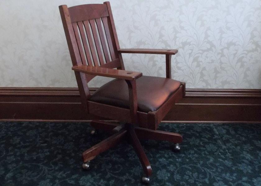 Bon Stickley Mission Style Rolling Desk Chair ...