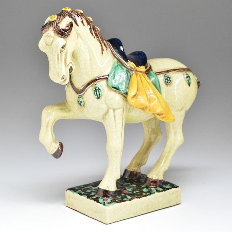 Vintage Italian Porcelain Horse Figurine : EBTH