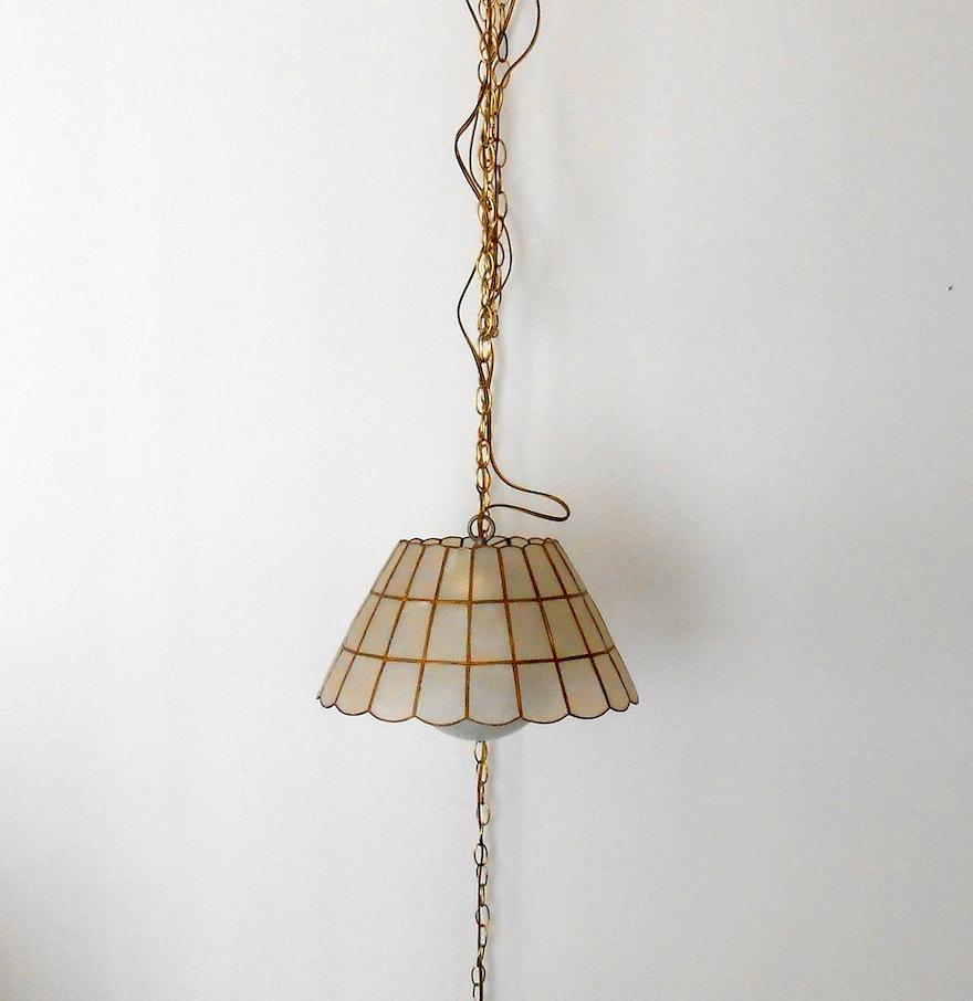 Mid Century Swag Lamp: Mid-Century Capiz Shell Swag Lamp : EBTH