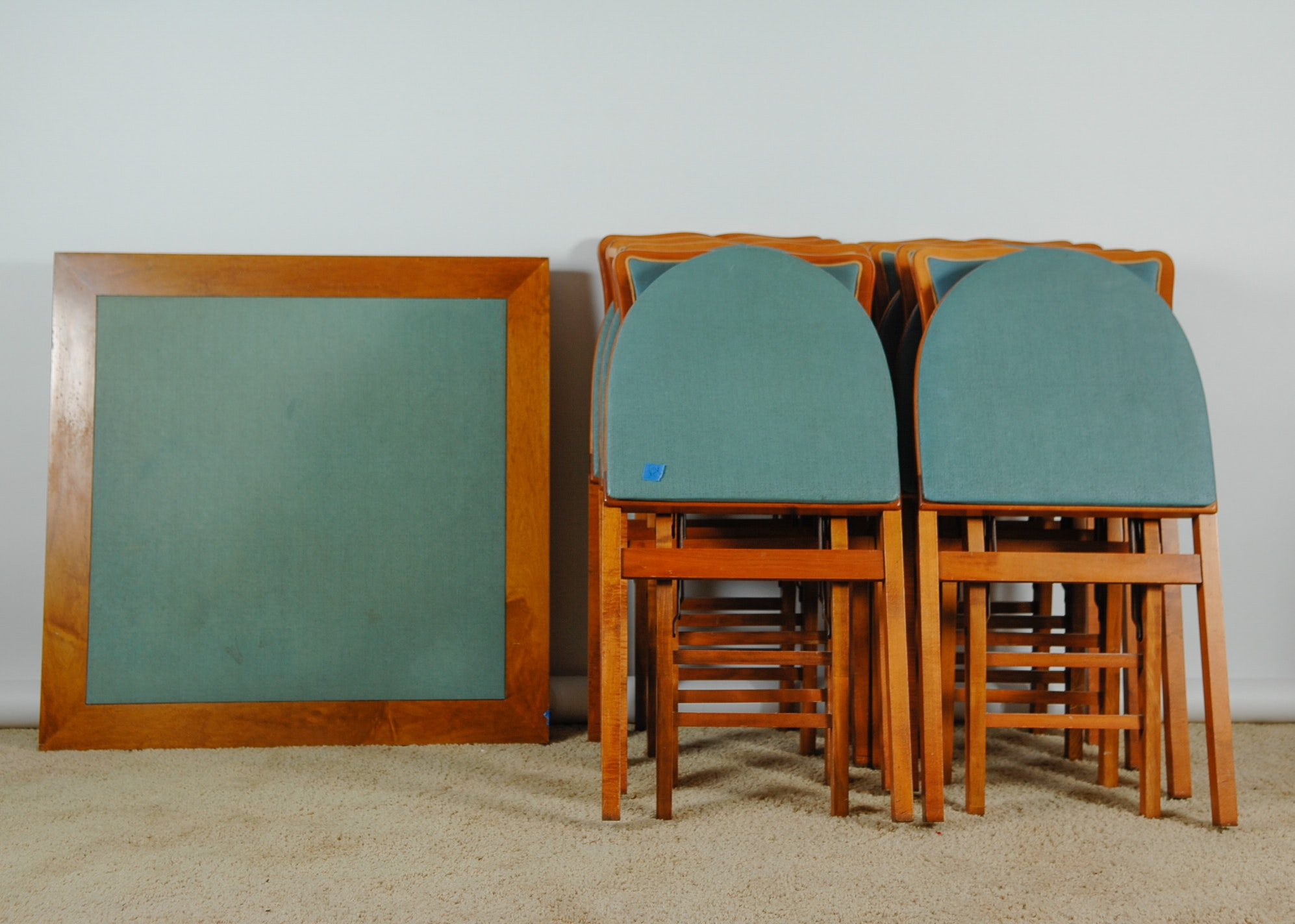 vintage stakmore expandable table and chairs ebth