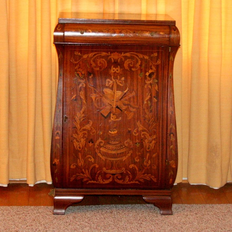 Antique Mahogany Sheet Music Cabinet ... - Antique Mahogany Sheet Music Cabinet : EBTH