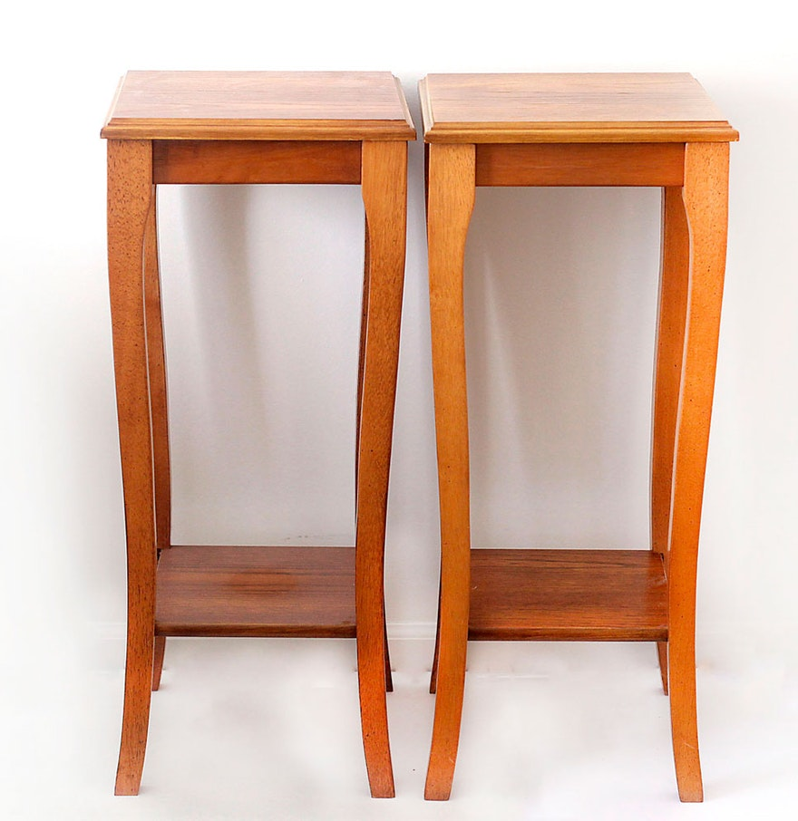 pair of maple end tables by rosalco  ebth - pair of maple end tables by rosalco