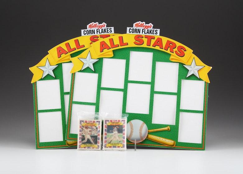 Kellogs Baseball Cards With Display