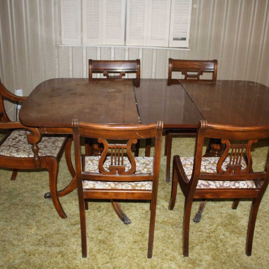 Remarkable Duncan Phyfe Style Dining Table And Chairs Home Interior And Landscaping Ologienasavecom