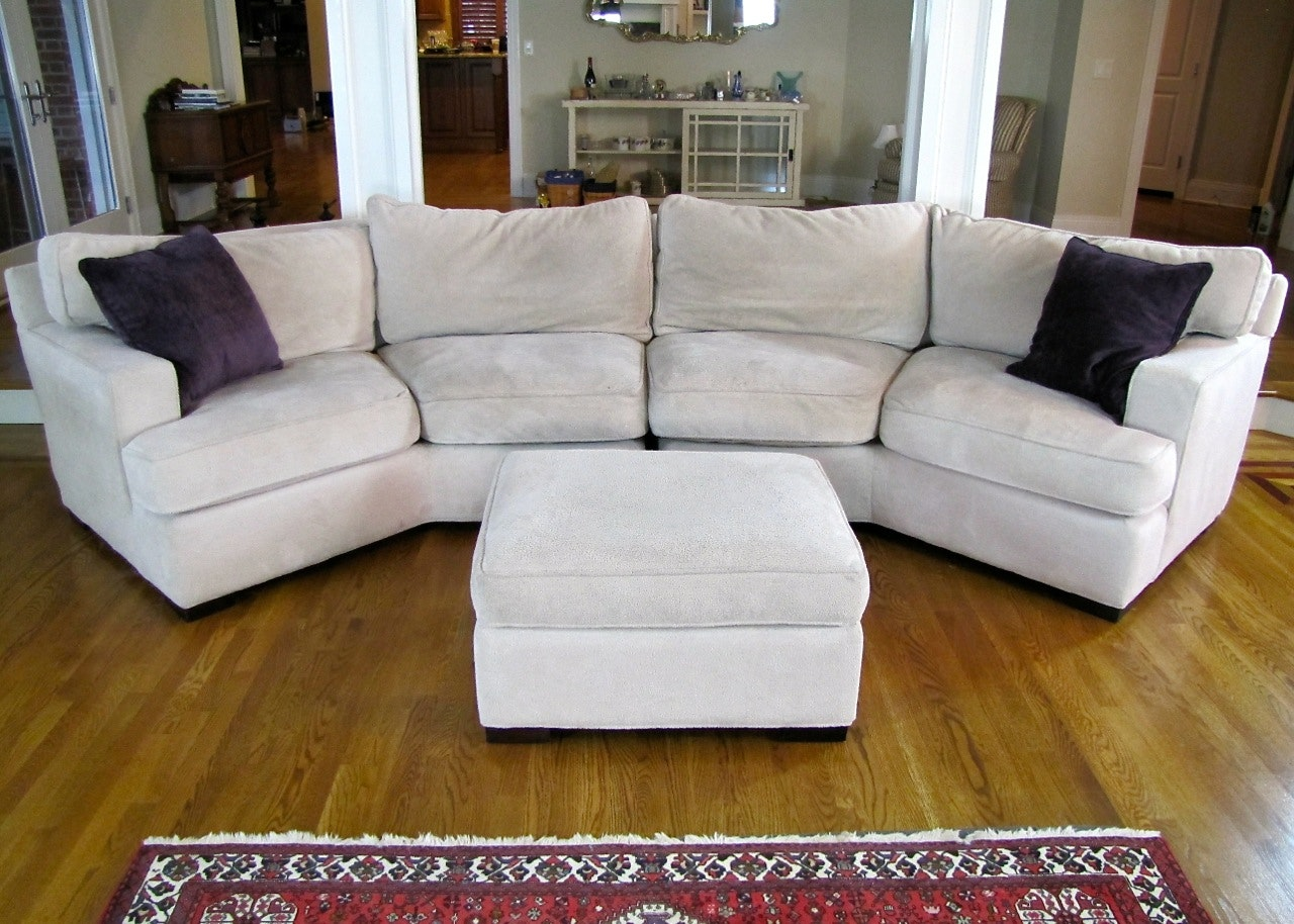 Down Filled Arhaus Sectional Sofa With Ottoman ...
