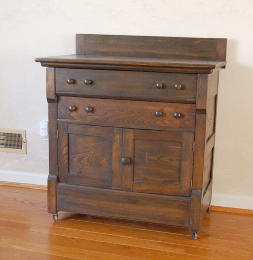 Antique Dark Stained Commode by West Michigan Furniture Co. - Antique Dark Stained Commode By West Michigan Furniture Co. : EBTH