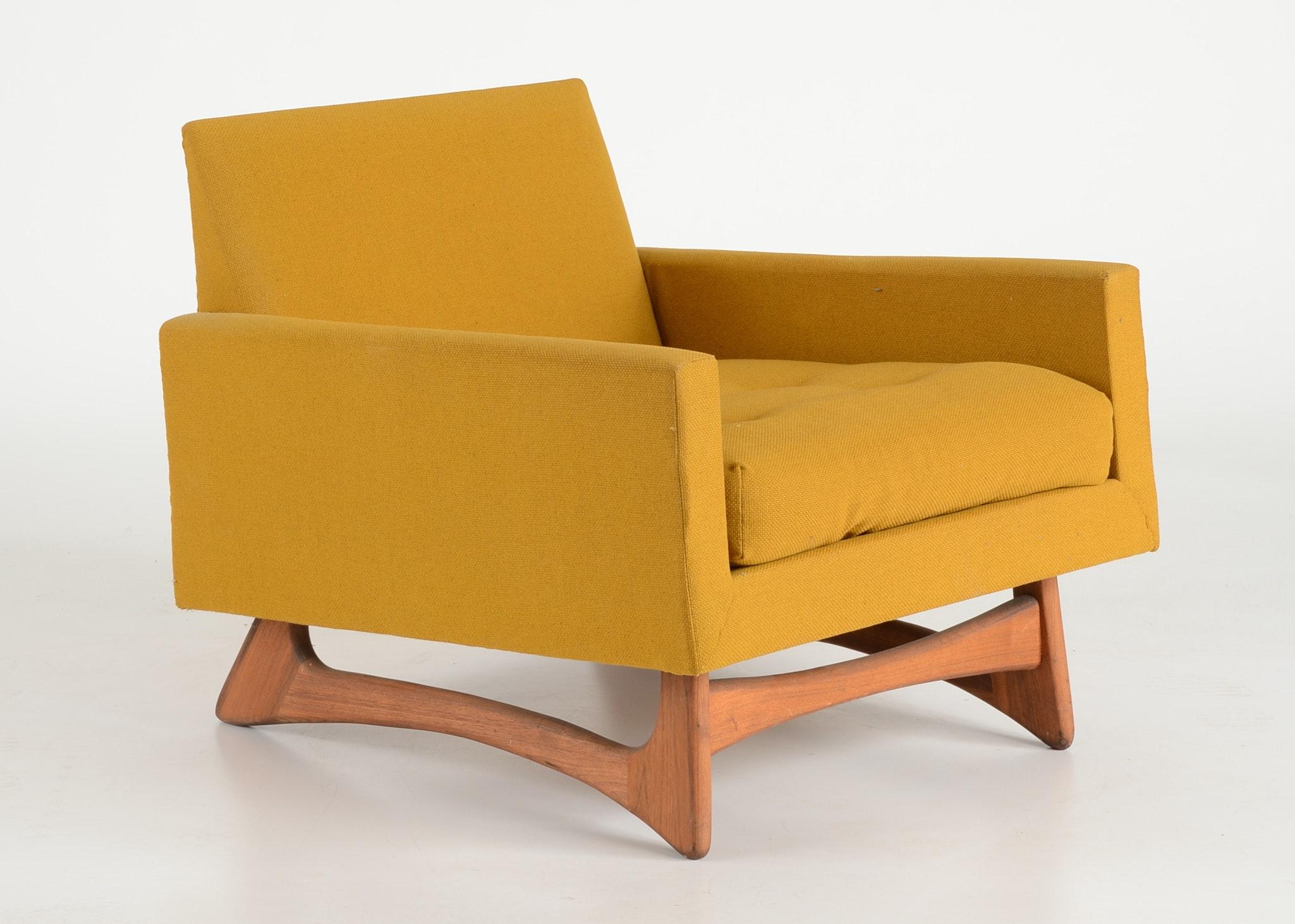 Mid Century Modern Mustard Yellow Armchair Ebth