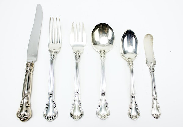 Gorham Sterling Silver Flatware In The Quot Chantilly Quot Pattern