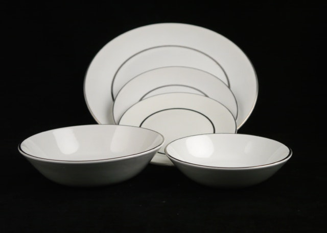Salem English Ironstone \ Silver Elegance\  Dinnerware and ... & Salem English Ironstone \