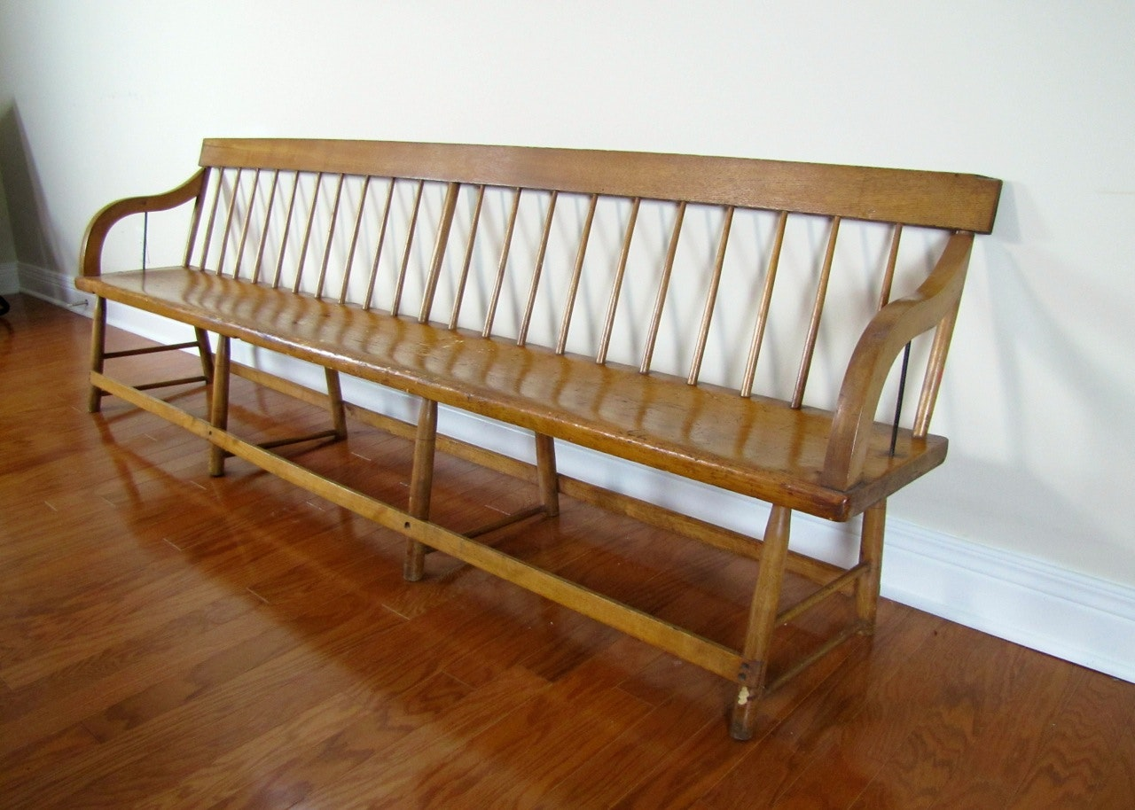 Antique Windsor Style Deacons Bench Ebth